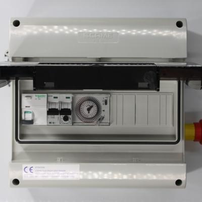 Coffret électrique conforme collectivité 1 pompe avec arrêt d'urgence intégré #1