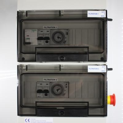 Coffret électrique 2 pompes avec arrêt d'urgence intégré  #1
