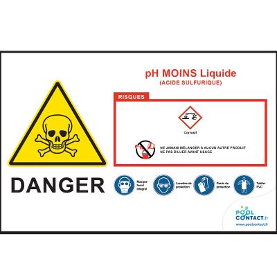 106 -             Panneau pH Moins liquide