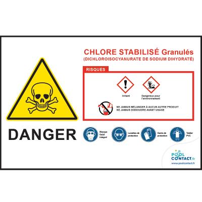 104 -             Panneau Chlore Stabilisé Granulés