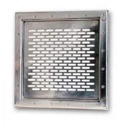 Grille inox de fond - 400 mm x 400 mm