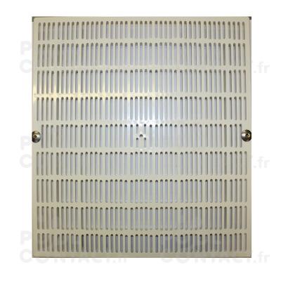 Grille PVC carrée 410x410mm - entraxe vis 38,8cm (piscine béton)