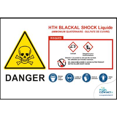 123 -             Panneau Blackal Shock HTH 30cmx20cm #1