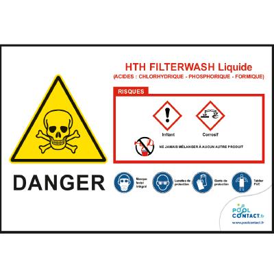 118 -             Panneau Filterwash liquide  HTH         #1
