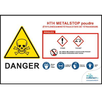 116 -             Panneau Metalstop Poudre  HTH       #1
