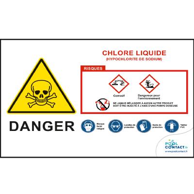 126 -             Panneau Chlore Liquide