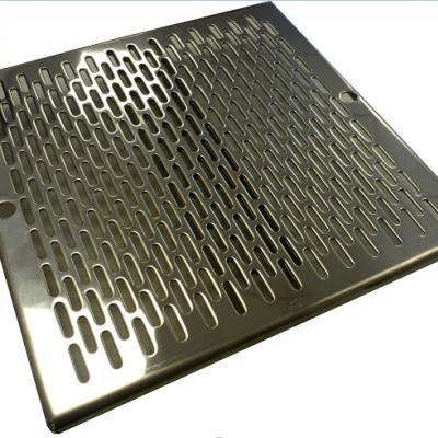 Grille de fond conforme inox renforcée ASTRAL -  252 x 252 mm - livrée nue sans vis de fixation