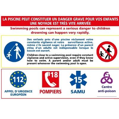 12 - Panneau Avertissement Danger Enfants 30cm x 21cm  #1