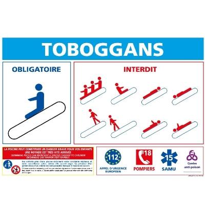 11 - Panneau Règlement Toboggans 30cm x 21cm     #1