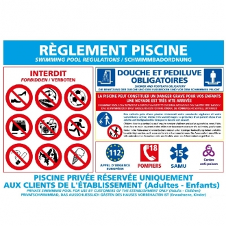 Signalétique Piscine
