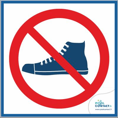 10/4 - Panneau Chaussures Interdites  15cm x 15cm
