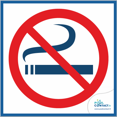 10/1 - Panneau Interdiction de fumer  15cm x 15cm