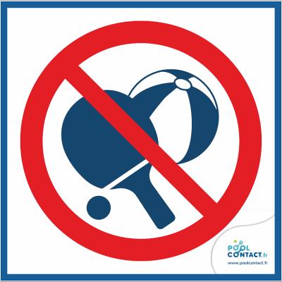 10/2 - Panneau Jeu de balles interdit  15cm x 15cm