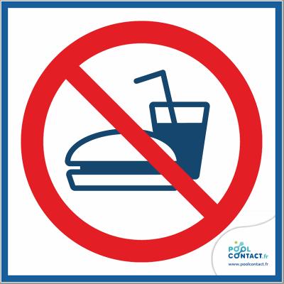 10/6 - Boissons et nourriture interdites  15cm x 15cm