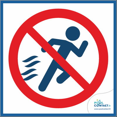 10/12 - Interdiction de courir 15cm x 15cm       #1