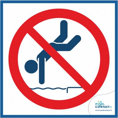 10/10 - Interdiction de plonger 15cm x 15cm