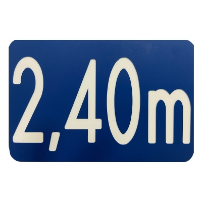 23 -             Panneau Profondeur Bassin 15cm x 10cm