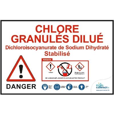 VMR3 -             Panneau Chlore Granulés dilué (stabilisé) 30cm x 20cm #1