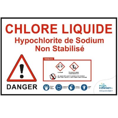 VMR1 -             Panneau Chlore liquide 30cm x 20cm