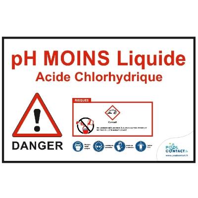 VMR5 -             Panneau pH Moins liquide-Acide Chlorhydrique 30cm x 20cm      #1