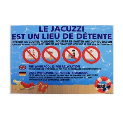 198 -             Panneau Jacuzzi  30cm x 21cm               #1