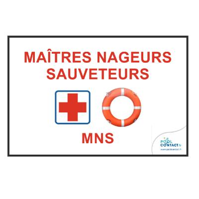 203 - Panneau MNS Maîtres Nageurs Sauveteurs 30cm x 20cm   #1