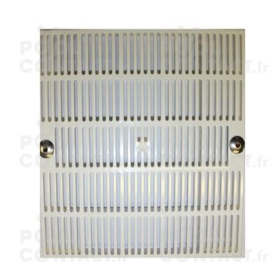 Grille PVC carrée 252x252mm - entraxe vis 23cm (piscine béton)