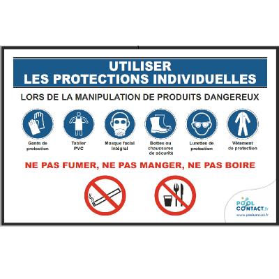 128 -             Panneau Utiliser les  EPI (Équipements de Protection Individuelle) 30cm x 20cm     #1