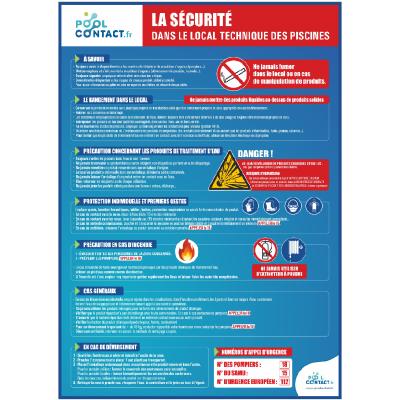 201 - Panneau La Sécurité dans le Local Technique  49,2cm x 35,8cm #1