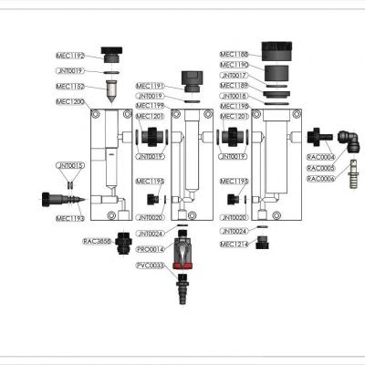 Chambre d'analyse régulation ampérométrique HTH Cycl'Eau 1st